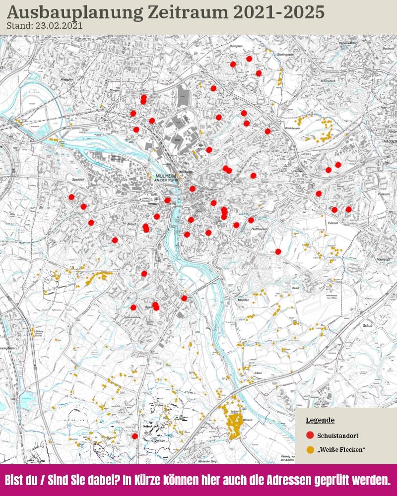 Karte Planungsansicht Glasfaserausbau