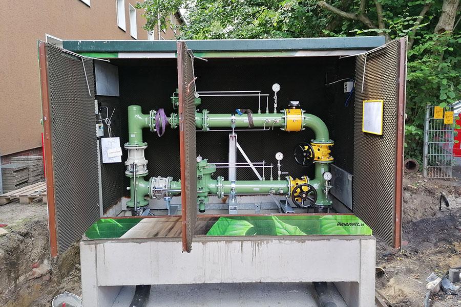Innenansicht einer Gasregelstation