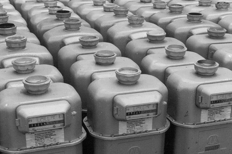 Ausrangierte Gaszähler