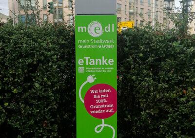 medl-eTanke öffentliche Ladestation Bachstraße 1