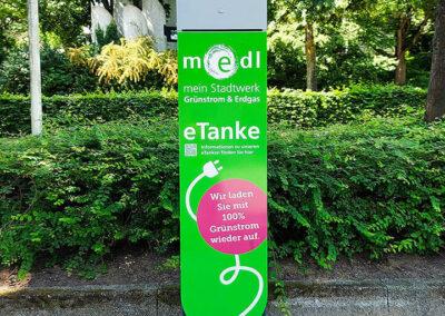medl-eTanke öffentliche Ladestation Bergstraße