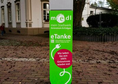 medl-eTanke öffentliche Ladestation Düsseldorfer Straße 118