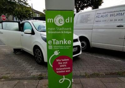 medl-eTanke öffentliche Ladestation Flockenweg