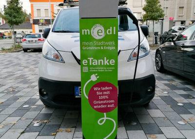 medl-eTanke öffentliche Ladestation Oberhausener Straße